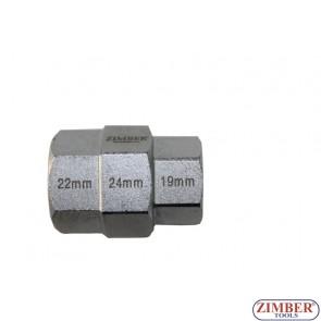 Вложка за мотоциклети 19-22-24 мм - ZIMBER TOOLS