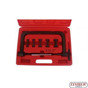 Рассухариватель струбцинный с насадками в кейсе (Ø 16,19,23,25,30 мм) ZH-1328
