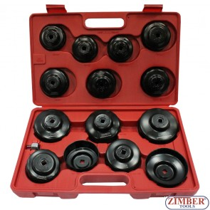 Cup Type Oil Filter Wrench Set 15pcs, ZR-36OFWS15 -  ZIMBER TOOLS.