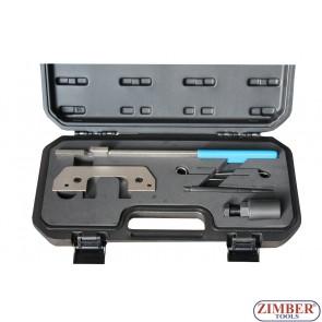 Набор инструмента для фиксации двигателя LAND  ROVER- BMW, OPEL, ZR-36ETTS130 - ZIMBER-TOOLS.