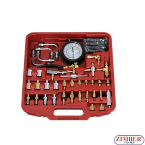 Набор для измерения давления в системе впрыска топлива бензиновых двигателей ZR-36GEIPTS - ZIMBER TOOLS