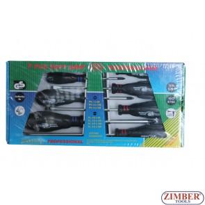 7pcs soft grip screwdriver PROFESSIONAL - GS - JN78212
