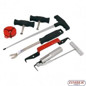 Комплект для демонтажа лобовых стекол, 7 предметов,   3552 - NEILSEN
