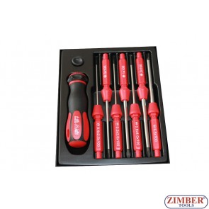 Insulated screwdriver set 7pc., 1000V (ZL-S5607T) - ZIMBER TOOLS