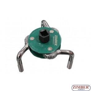 Съемник масляных фильтров краб 65-120мм,ZR-36JOFW03 - ZIMBER TOOLS