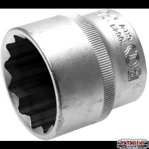 "Socket, 12-point 12.5 mm (1/2"") drive 36 mm- 10649 -Bgs technic."