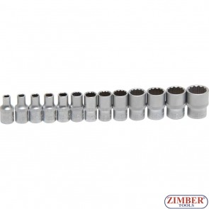 "Socket Set, 12-point | 6.3 mm (1/4"") Drive 