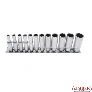 "Socket Set, 12-point, deep | 6.3 mm (1/4"") Drive 