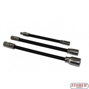 3pcs Flexible Extension Bar Set,ZR-02FEBS03 - ZIMBER TOOLS.
