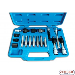 18PCS COMPLETE KIT FOR BOSCH TYPE ALTERNATOR PULLEYS, ZR-36ART18 - ZIMBER TOOLS.