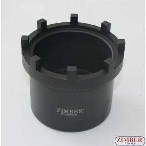 """Торцевая головка 3/4""""DR радиусная, 8 шипов для гайки ступицы SCANIA.420 (ZR-36GNS) - ZIMBER-TOOLS."""