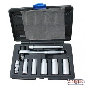 К-т ключове за свещи с динамометрична тресчотка - ZIMBER