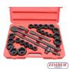 "Socket set 6-point impact socket and inch sizes 3/4"" - 27pcs. - (ZR-06AISS3427V) - ZIMBER TOOL"