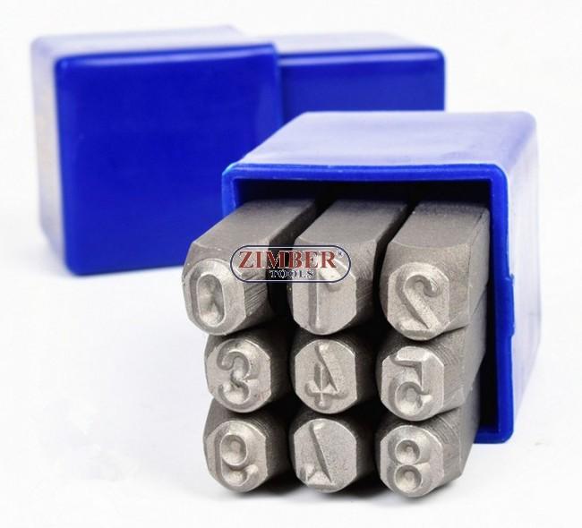 Steel Stamps Number Punch Set 6mm 6mm