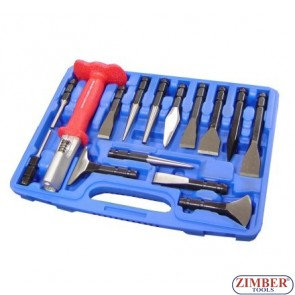 Quick Change Punch and Chisel Set, ZR-36CP14 - ZIMBER TOOLS
