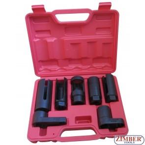 7 PCS Car Oxygen Sensor / Lambda sensor Socket Set Tool .