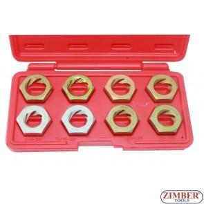 Плашки за ремонт на резби к-т 8 части-ZIMBER