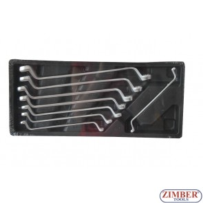 Offset ring wrench set  8pcs (6-22mm) ZT-00822 - SMANN TOOLS.