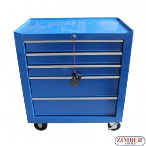 Шкаф за инструменти с колела - 5 отделения