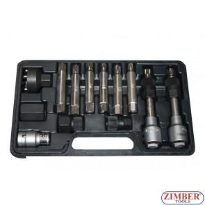 Garnitura alata za odvijanje španera alternatora,13 delova -  ZR-36VBBS12 - ZIMBER TOOLS.