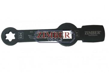 Torx slogging wrench with 2 striking faces E24, MAN TGA TGS TGX - ZR-36TSWE24 - ZIMBER TOOLS