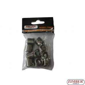10 PCSChinese supplier fasteners and screws wire thread insert M12 X 1.75 X 16.3mm - ZT-04J1068 - SMANN TOOLS
