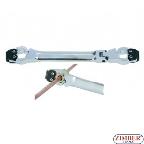 Ключ за спирачни тръбички с тресчотков механизъм 11 mm - BGS